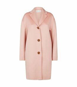 Buttoned Cashmere Coat