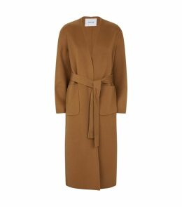 Wool-Cashmere Belted Coat