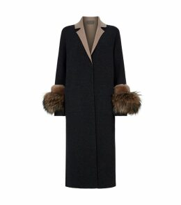 Fur-Trimmed Lightweight Coat