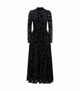 Judy Velvet Dot Dress