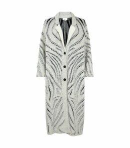 Zebra Fringe Coat