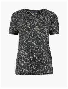 M&S Collection Polka Dot Relaxed Fit T-shirt