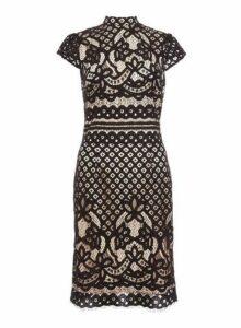 Womens *Quiz Black High Neck Midi Dress, Black