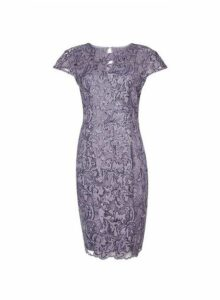 Womens **Showcase Mink Sequin 'Cade' Midi Dress- Purple, Purple