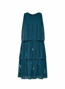 Womens **Showcase Forest Green 'Joanie' Tiered Trapeze Dress- Green, Green