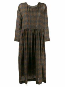 Uma Wang diamond-print dress - Blue