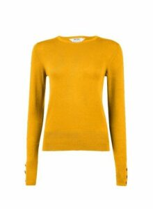 Womens Petite Yellow Ribbed Stitch Jumper- Yellow, Yellow