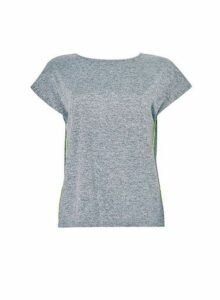 Womens Grey Active Wear Cross Back T-Shirt- Grey, Grey