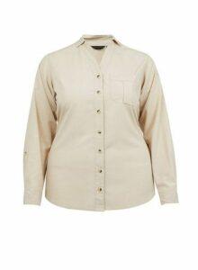Womens **Dp Curve Stone Lyocell Shirt- White, White