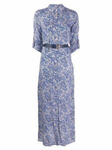 Michael Michael Kors mosaic print shirt dress - Blue