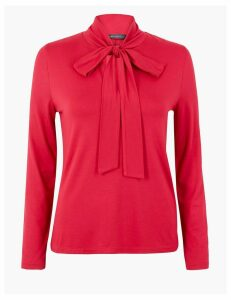 M&S Collection Fitted Bow Detail Top