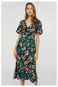Womens Monsoon Teal Allegra Animal Print Tea Dress -  Green