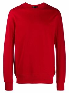 Y-3 contrast logo sweatshirt - Red