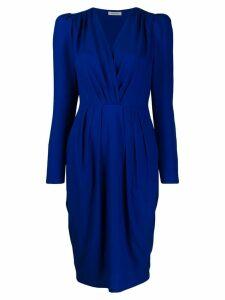 P.A.R.O.S.H. midi wrap dress - Blue