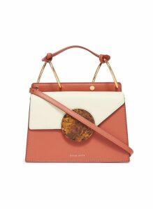'Phoebe Bis' colourblock asymmetric flap leather crossbody bag
