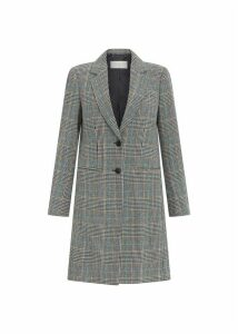 Tilda Wool Blend Coat Grey Multi