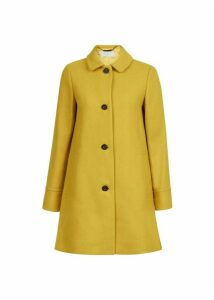 Fia Wool Blend Coat Honey Yellow