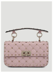 Valentino Small Rockstud Spike Handbag in Pink size One Size
