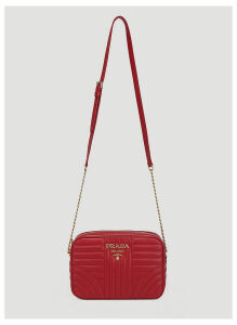Prada Fire Bandoliera Shoulder Bag in Red size One Size