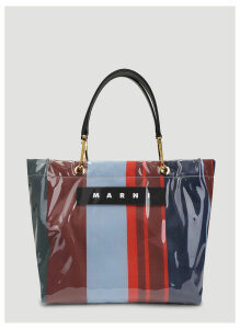Marni Lacquer Medium Shopping Bag in Blue size One Size