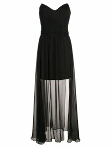 Nicole Miller strapless chiffon gown - Black