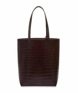 Croc-Embossed Leather Everyday Tote Bag