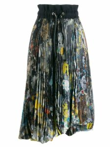 Sacai pleated midi skirt - Black