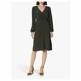 L.K.Bennett Zadie Silk Polka Dot Dress, Navy