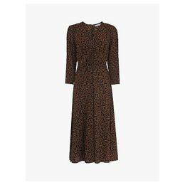 L.K.Bennett Gabrielle Abstract Midi Dress, Toffee/Black