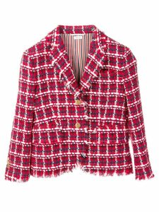 Thom Browne Gun Club Check Tweed Sport Coat - Red