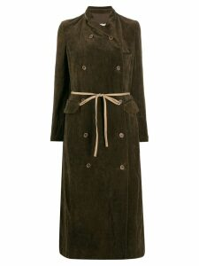 Uma Wang double breasted coat - Brown