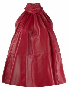 16Arlington leather halter neck dress - Red