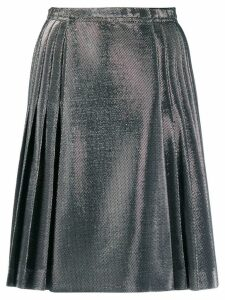 Ermanno Scervino Lurex pleated skirt - SILVER