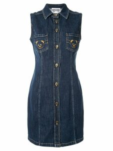 Moschino embroidered dress - Blue