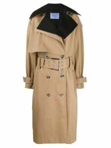 Mugler oversized belted trenchcoat - Neutrals