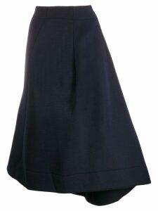 Jil Sander asymmetric hem skirt - Blue