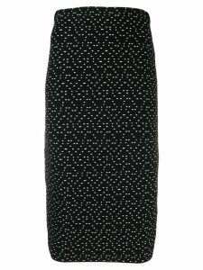 Emporio Armani geometric print pencil skirt - Black