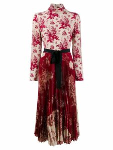 Red Valentino floral pleated dress - Neutrals