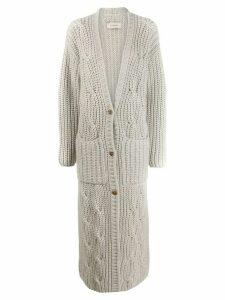 Gentry Portofino long cashmere cardigan - White