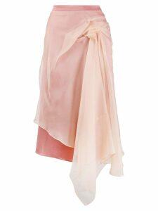 Sies Marjan Nadine crepe bunched skirt - Neutrals