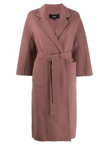 Arma wool belted wrap coat - Pink