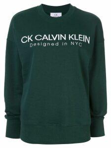 Ck Calvin Klein contrast logo sweatshirt - Green