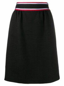 Gucci striped mini skirt - Black