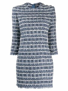 Balmain tweed denim dress - Blue