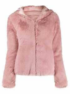 Save The Duck faux fur hooded jacket - Pink