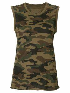 Nili Lotan camouflage print tank top - Green