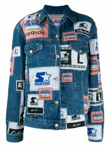 Acne Studios X Starter 2000 patchwork denim jacket - Blue