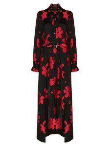 Roland Mouret Colada floral jacquard midi dress - Black