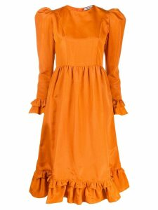 Batsheva Praire ruffle midi dress - Orange