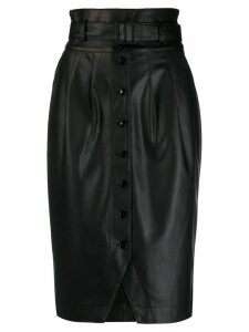 Patrizia Pepe leather-style pencil skirt - Black